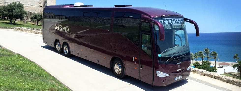 12 BERTH EXTRA LONG LUXURY SINGLE DECKER / STARBUS WITH PRIVATE DOUBLE BED